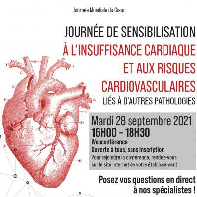 webconférence sur l'insuffisance cardiaque et les risques cardiovasculaires liés à d'autres pathologies