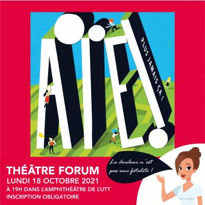Théâtre forum sur la douleur, Lundi 18 octobre 2021 à 19h à l'UTT