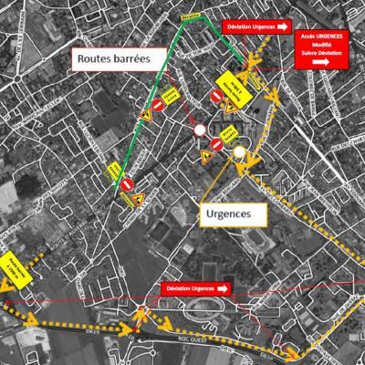 Travaux : infos circulation et accès aux urgences