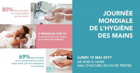 Journée mondiale de l'hygiène des mains le 15 mai 2017