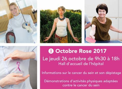 Octobre rose : événement sport et santé jeudi 26 octobre à l'hôpital